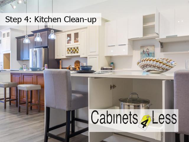 Step 4: Kitchen Clean-up