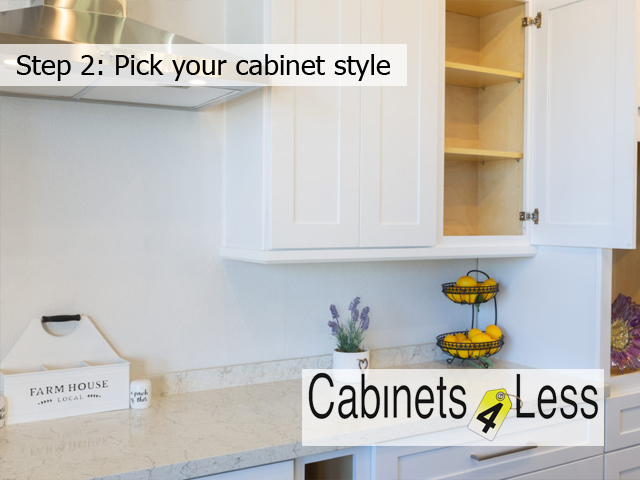 Step 2: Pick your cabinet style