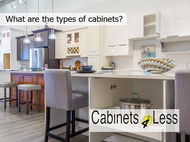 What are the types of cabinets