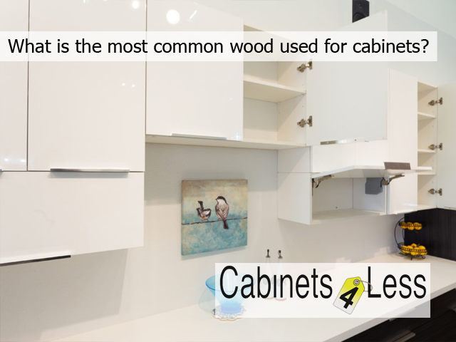 What is the most common wood used for cabinets