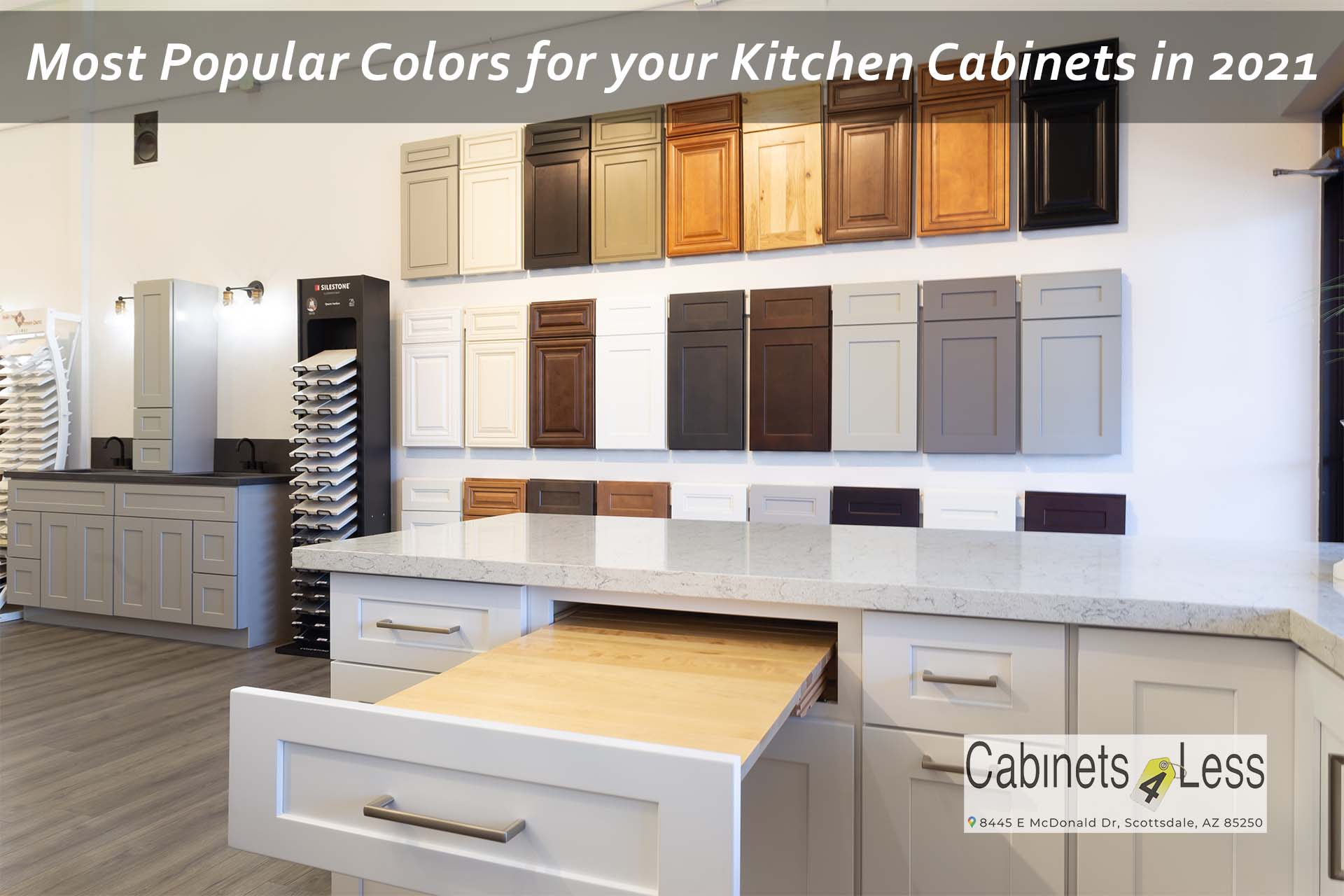 most popular colors for your kitchen cabinets
